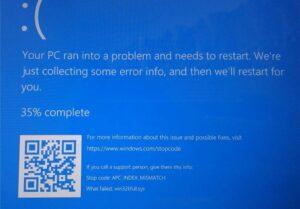 Problema aggiornamento Windows 10